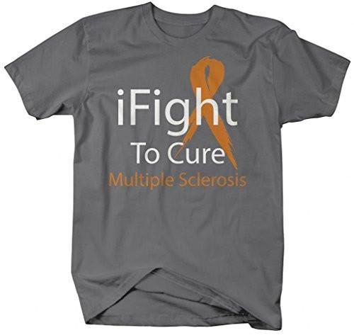 Shirts By Sarah Men's Mulitple Sclerosis iFight To Cure Awareness T-Shirt-Shirts By Sarah