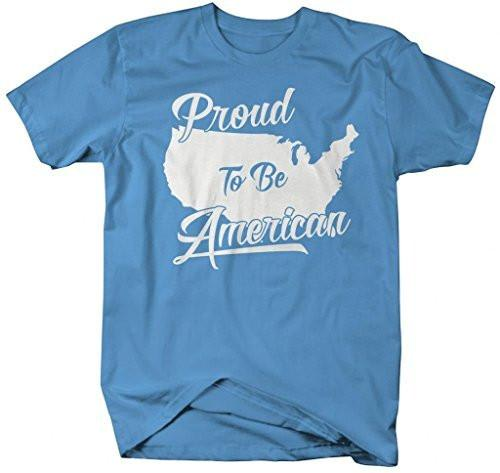 Shirts By Sarah Men's Patriotic 4th July T-Shirt Proud To Be American Shirts-Shirts By Sarah