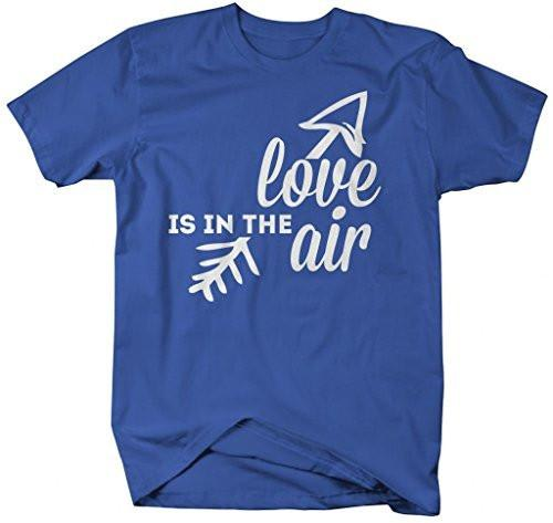Shirts By Sarah Men's Valentine's T-Shirt Love In The Air Arrow Shirts-Shirts By Sarah