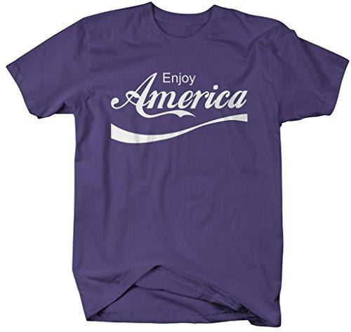 Shirts By Sarah Men's Enjoy America Patriotic T-Shirts 4th July Shirts-Shirts By Sarah