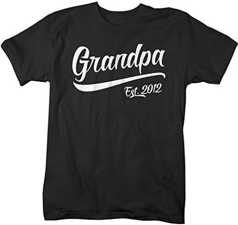 Shirts By Sarah Men's Grandpa Est. 2012 T-Shirt Fathers Day Shirts-Shirts By Sarah