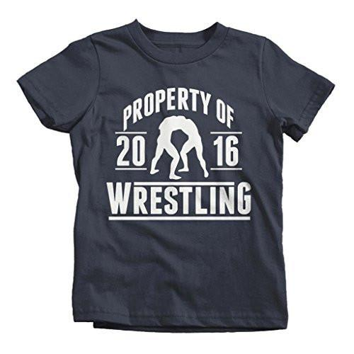 Shirts By Sarah Boy's Property Of Wrestling 2016 T-Shirt-Shirts By Sarah