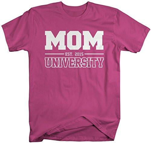 Shirts By Sarah Women's Unisex Mom University Est. 2015 T-Shirt Mother's Day Shirts-Shirts By Sarah