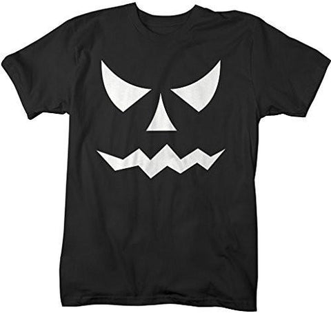 Shirts By Sarah Men's Glow In The Dark Halloween T-Shirt Scary Pumpkin Face-Shirts By Sarah