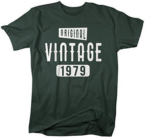 Shirts By Sarah Men's Original Vintage Birthday Year Shirts Made In 1979 T-Shirt-Shirts By Sarah