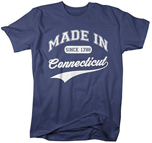 Shirts By Sarah Men's Made In Connecticut T-Shirt Since 1788 State Pride Shirts-Shirts By Sarah
