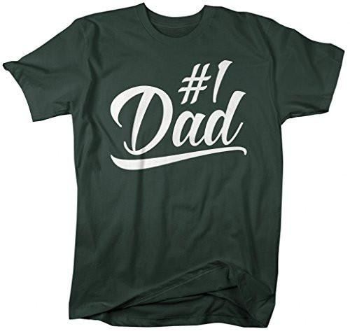 Shirts By Sarah Men's #1 Dad T-Shirt Since Modern Father's Day Shirts-Shirts By Sarah