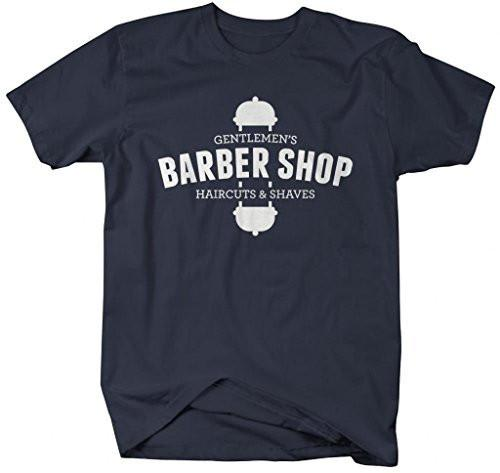 Shirts By Sarah Men's Gentlemen's Barber Shop T-Shirt Haircuts Saves Shirt-Shirts By Sarah