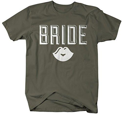 Shirts By Sarah Women's Unisex Bride Lips T-Shirt Wedding Shirt-Shirts By Sarah