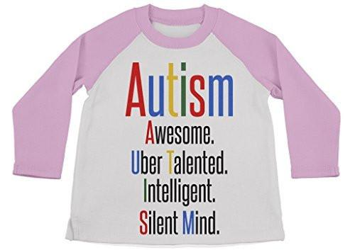 Shirts By Sarah Boy's Autism Shirt 3/4 Sleeve Raglan Shirts Support Awareness-Shirts By Sarah