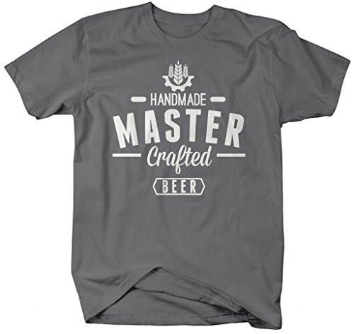 Shirts By Sarah Men's Handmade Master Crafted Beer T-Shirt Brewing Shirts-Shirts By Sarah