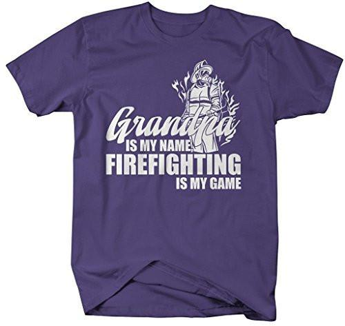 Shirts By Sarah Men's Funny Grandpa Is Name Firefighting Game Shirt Gift Father's Day-Shirts By Sarah