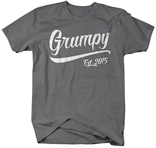 Shirts By Sarah Men's Funny Grumpy Est. 2015 T-Shirt Father's Day Grandpa Shirts-Shirts By Sarah