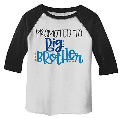 Shirts By Sarah Boy's Toddler Promoted To Big Brother 3/4 Sleeve Raglan-Shirts By Sarah