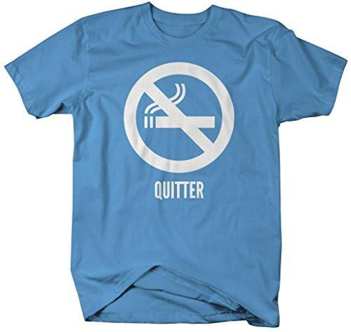 Shirts By Sarah Men's Quitter T-Shirt Non Smoking Shirts No Smoking-Shirts By Sarah