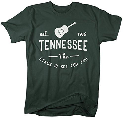 Shirts By Sarah Men's Tennessee State Slogan Shirt Stage Is Set T-Shirt Est. 1796-Shirts By Sarah