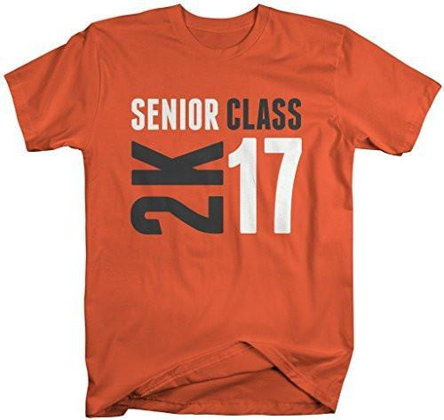 Shirts By Sarah Men's Senior Class T-Shirt 2K 17 2017 Seniors Shirt-Shirts By Sarah