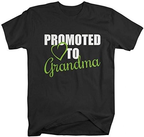 Shirts By Sarah Unisex Crew Promoted To Grandma T-Shirt New Grandparents-Shirts By Sarah