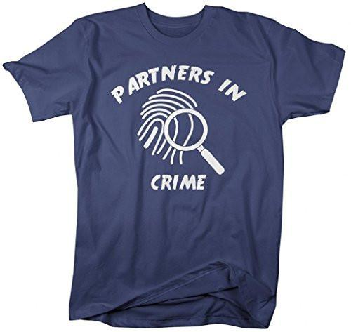 Shirts By Sarah Unisex Best Friend T-Shirt Partners In Crime Finger Print Shirts-Shirts By Sarah