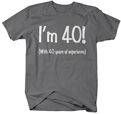 53e03d723 Shirts By Sarah Mens Funny 80th Birthday T Shirt 40 With Years Experience