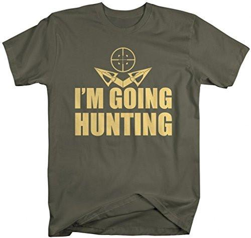 Shirts By Sarah Men's I'm Going Hunting T-Shirt Hunter's Shirts-Shirts By Sarah
