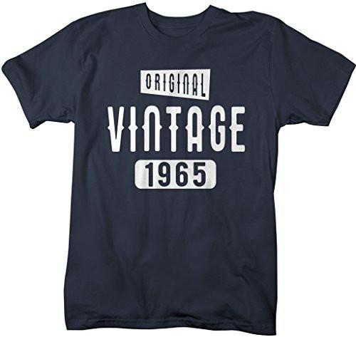 Shirts By Sarah Men's Original Vintage Birthday Year Shirts Made In 1965 T-Shirt-Shirts By Sarah