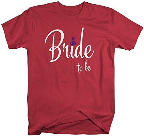 Shirts By Sarah Women's Unisex Bride To Be Cute T-Shirt Wedding Shirt-Shirts By Sarah
