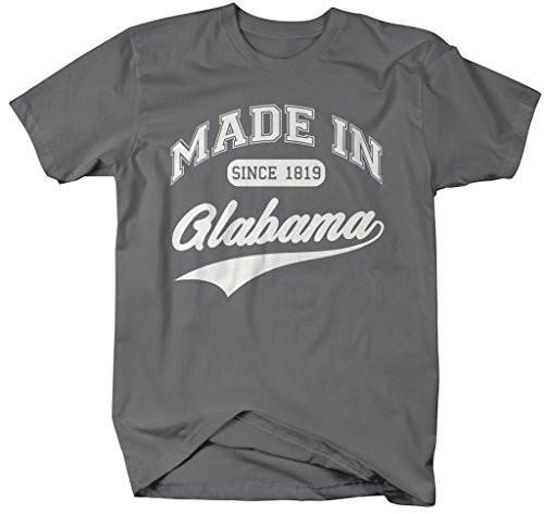 Shirts By Sarah Men's Made In Alabama T-Shirt Since 1819 State Pride Shirts-Shirts By Sarah