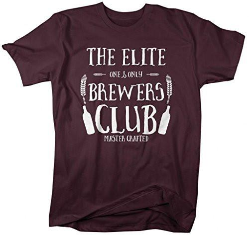 Shirts By Sarah Men's Elite Brewers Club T-Shirt Home Beer Brewing Shirts Hipster-Shirts By Sarah