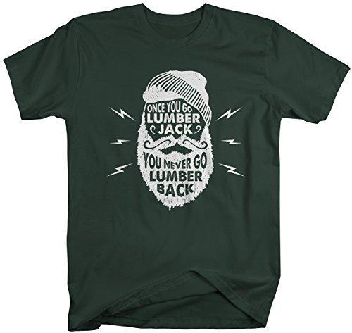 Shirts By Sarah Men's Funny Lumberjack T-Shirt Never Lumber Back Woodsman Tee Shirt-Shirts By Sarah