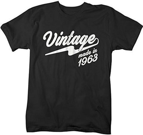 Shirts By Sarah Men's Vintage Made In 1963 T-Shirt Retro Birthday Shirts-Shirts By Sarah