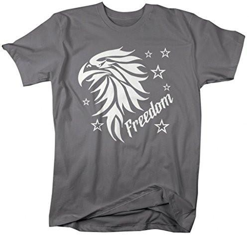 Shirts By Sarah Men's Freedom Eagle T-Shirts 4th July Shirts Independence Day-Shirts By Sarah