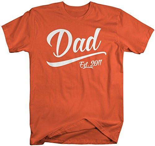 Shirts By Sarah Men's Dad Est. 2011 T-Shirt Fathers Day Shirts-Shirts By Sarah