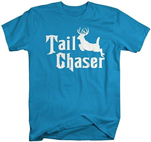 Shirts By Sarah Men's Funny Hunting T-Shirt Tail Chaser Deer Offensive Shirt-Shirts By Sarah
