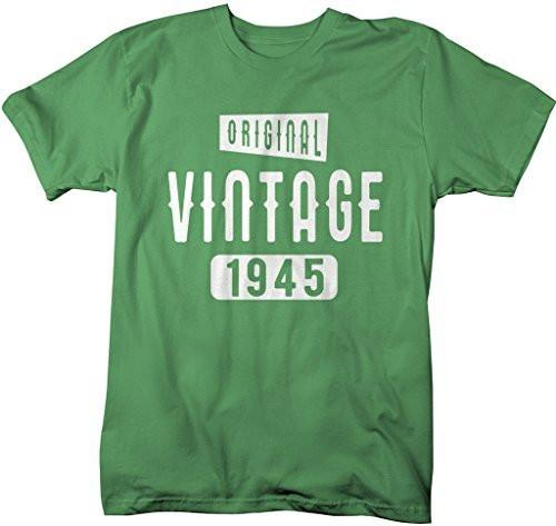 Shirts By Sarah Men's Original Vintage Birthday Year Shirts Made In 1945 T-Shirt-Shirts By Sarah