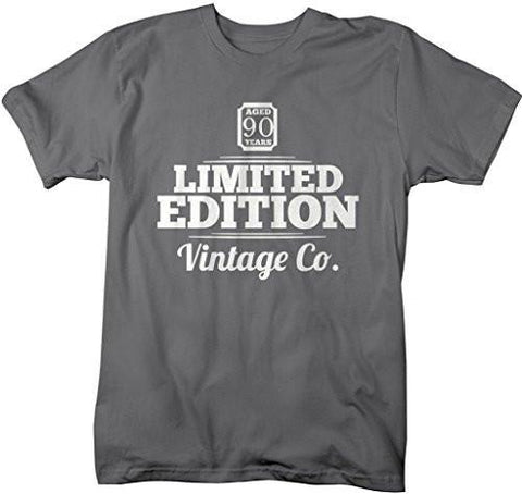 Shirts By Sarah Mens 90th Birthday T Shirt Limited Edition Vintage