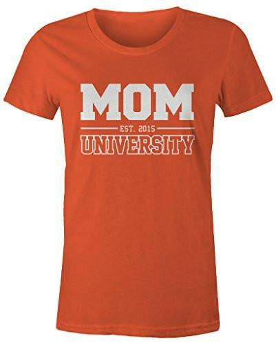 Shirts By Sarah Women's Missy Mom University Est. 2015 T-Shirt Mother's Day Shirts-Shirts By Sarah