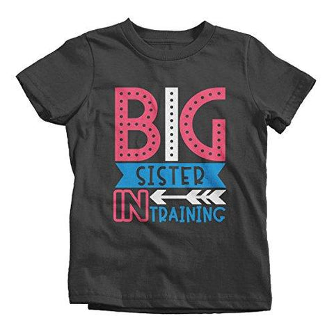 Girl's Big Sister in Training T-Shirt Promoted Shirt Baby Announcement-Shirts By Sarah