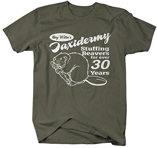Shirts By Sarah Men's Funny Taxidermy T-Shirt Offensive Stuffing Beavers Shirts-Shirts By Sarah