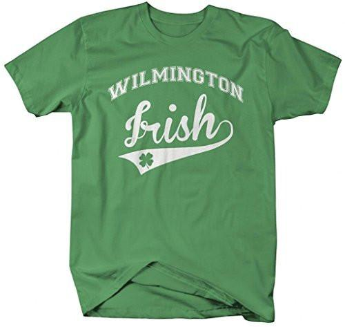 Shirts By Sarah Men's St. Patrick's Day City T-Shirt Wilmington Irish DE Delaware Shirts-Shirts By Sarah