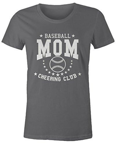 Shirts By Sarah Women's Missy Fit Baseball Mom T-Shirt Cheering Club Shirts-Shirts By Sarah
