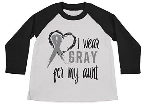 Shirts By Sarah Boy's Wear Gray For Aunt Shirt 3/4 Sleeve Gray Awareness Shirts-Shirts By Sarah