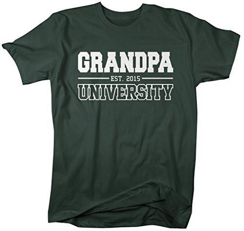 Shirts By Sarah Men's Grandpa University Est. 2015 T-Shirt Father's Day Shirts-Shirts By Sarah