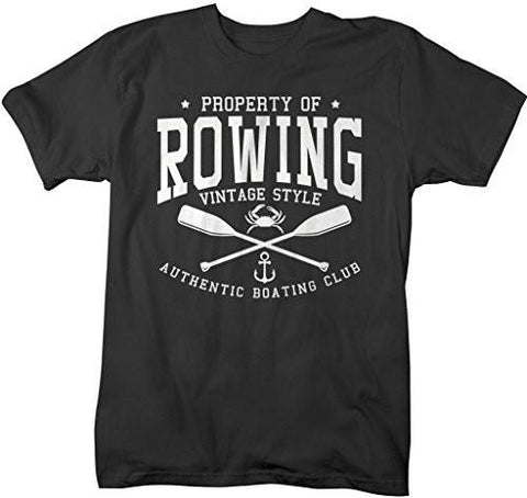 Shirts By Sarah Men's Property Of Rowing T-Shirt Crew Shirts Regatta Tee-Shirts By Sarah