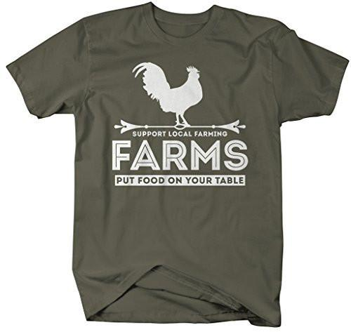 Shirts By Sarah Men's Farming T-Shirt Farms Put Food On Table Support Shirts-Shirts By Sarah
