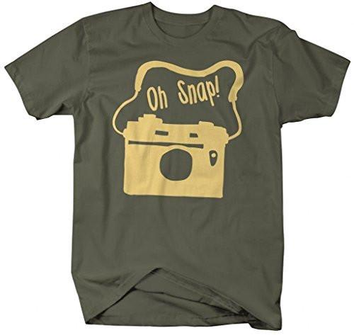 Shirts By Sarah Men's Funny Hipster Shirts Oh Snap Camera Shirts-Shirts By Sarah