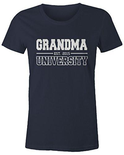 Shirts By Sarah Women's Missy Grandma University Est. 2015 T-Shirt Mother's Day Shirts-Shirts By Sarah
