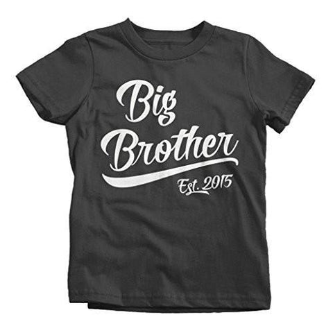 Shirts By Sarah Boy's Big Brother Est. 2015 T-Shirt Promoted To Shirts-Shirts By Sarah