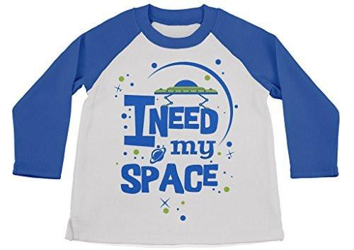 Shirts By Sarah Youth Funny I Need My Space Shirt 3/4 Sleeve Raglan UFO Shirts-Shirts By Sarah