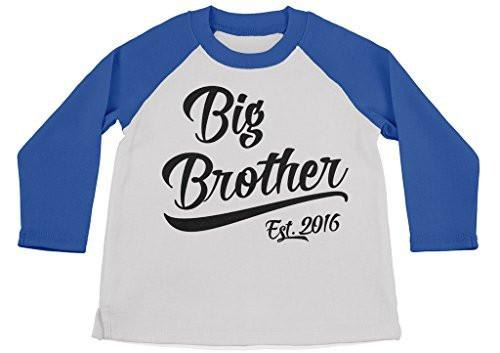 Shirts By Sarah Boy's Big Brother Est. 2016 T-Shirt Promoted To Shirts-Shirts By Sarah